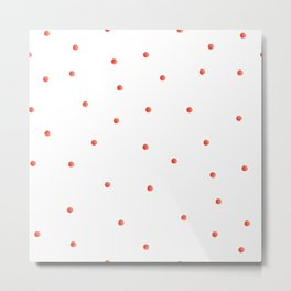 Cherry tomato pattern Metal Print