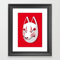 Japan Serie 3 - KITSUNE Framed Art Print