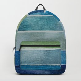 Blue reclangles Backpack