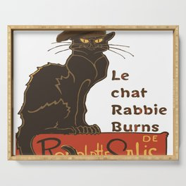 Le Chat Rabbie Burns With Tam OShanter Serving Tray