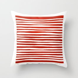 Waterline Pattern in Red Throw Pillow