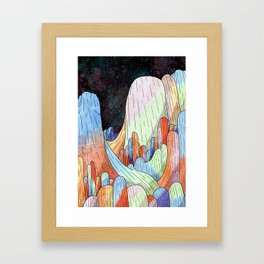 coral Mountains Framed Art Print