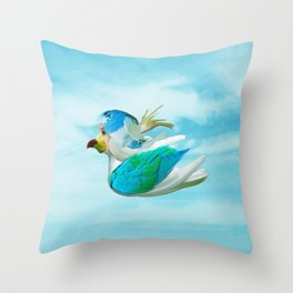 Does the end of the Parrot Throw Pillow