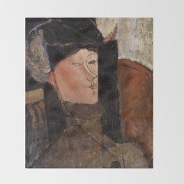 "Amedeo Modigliani ""Beatrice Hastings"", 1916 Throw Blanket"
