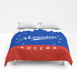 Moscow City, Russia, poster / Москва, Россия Comforters