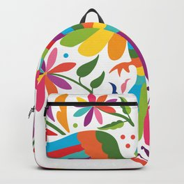 Mexican Otomí Heart Design Backpack