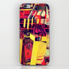Industrial Abstract Red iPhone & iPod Skin