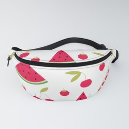 Pattern watermelon cherry raspberry currant Fanny Pack