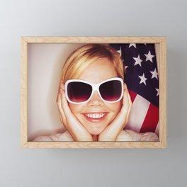 2041 Blonde Americano Elisa Framed Mini Art Print