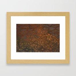 Stenciled wall Framed Art Print