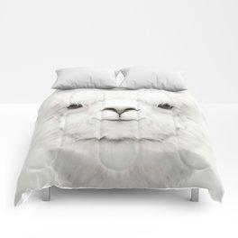 SMILING ALPACA Comforters