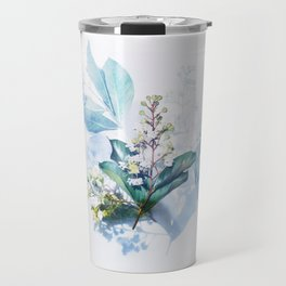 Light Blue Floral Travel Mug