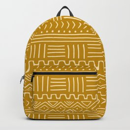 Mud Cloth on Mustard Backpack