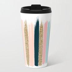Zara - Brushstroke glitter trendy girly art print and phone case for young trendy girls Travel Mug