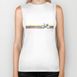 Cyclist Flag Colombia Colombian CO Bike Racing Black Biker Tank