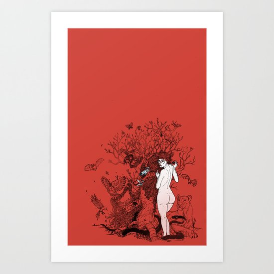 Lilith tastes. Art Print