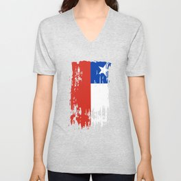 CL CHL Chile Flag Unisex V-Neck