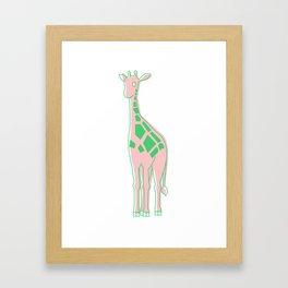 Pink Lemon-Aid Giraffe Framed Art Print