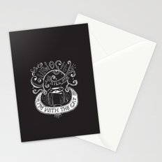 Let Curiosity Kill Me, I'm with the Cat Stationery Cards