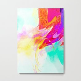 Watercolor afterglow anstract Metal Print