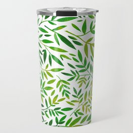 Green leaf botanical pattern Travel Mug