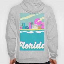 Florida 80s vacation poster Hoody