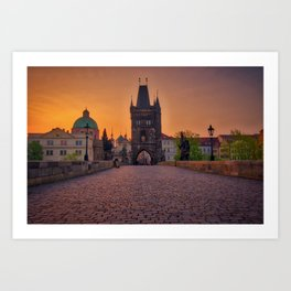 Charles Bridge Prague Czech Republic Art Print