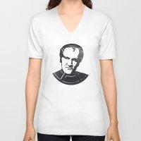 tarantino V-neck T-shirts featuring Quentin Tarantino by Alejandro de Antonio Fernández