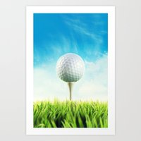 golf Art Prints featuring GOLF by Ylenia Pizzetti