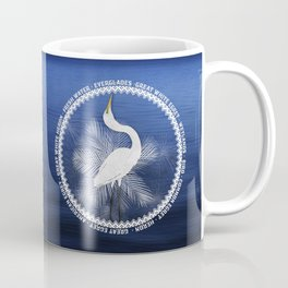 Great Egret Wreath Coffee Mug
