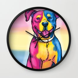 Gay Pride Pups Wall Clock