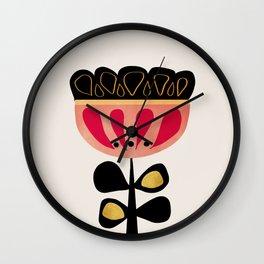 Minimal flower Wall Clock