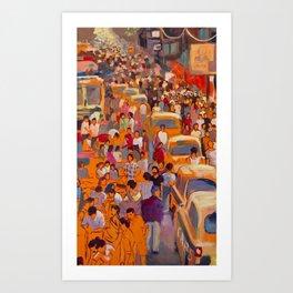India Marketplace Art Print