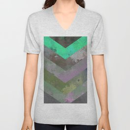 Look Down (Abstract, pastel, geometric artwork) Unisex V-Neck