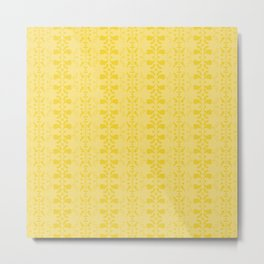 yellow pattern Metal Print
