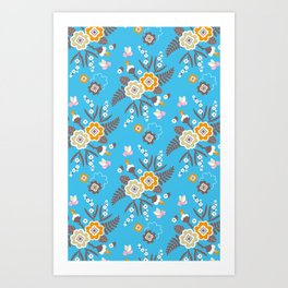 Cute flowers Art Print