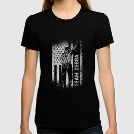 Team Zebra - Ice Hockey Referee Ref America T-shirt