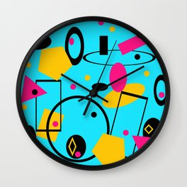 retro abstract blue Wall Clock