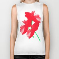 poppies Biker Tanks featuring Poppies by Vitta
