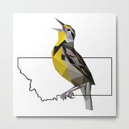 Montana – Western Meadowlark Metal Print