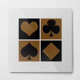 Cards series - Black and brown Metal Print