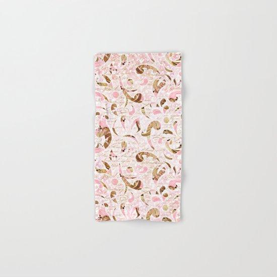 Pink Brown Swirls Hand & Bath Towel