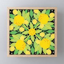 When life gives you lemons, make a lemon pattern Framed Mini Art Print