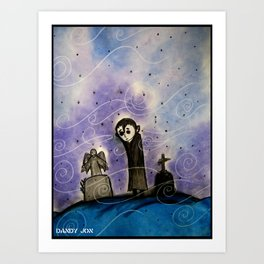 Graveyard Boy Art Print
