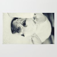 french bulldog Area & Throw Rugs featuring French Bulldog by Falko Follert Art-FF77