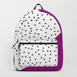 Geometric grey and purple design Backpack