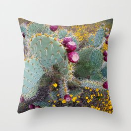 Cactus Bouquet Throw Pillow