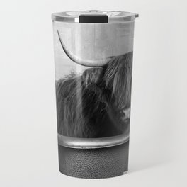 Highland Cow in the Tub Travel Mug
