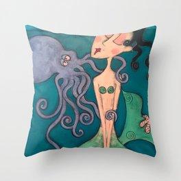 my octopus Throw Pillow