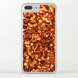 Hot and spicy crushed chilli peppers Clear iPhone Case